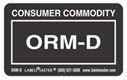 Otherwise Regulated Material-Domestic (ORM-D) Label for Dangerous Goods | Shipping Solutions
