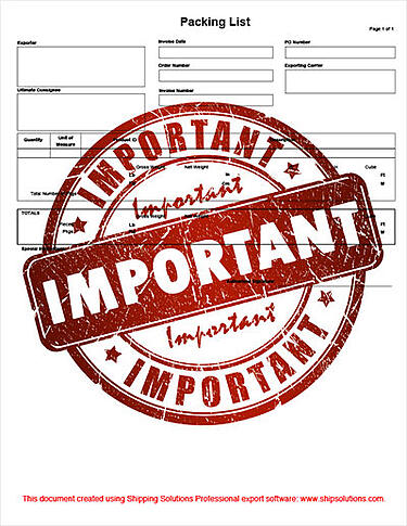 10 Reasons Why a Shipping Packing List Is an Import Export Document | Shipping Solutions