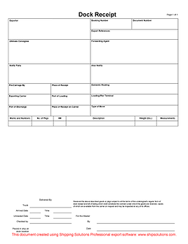 cargo receipt template - download bill of lading forms