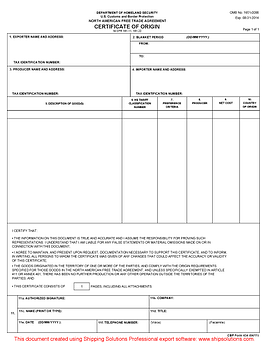 Certificate of origin download free nafta certificate of origin yadclub Image collections