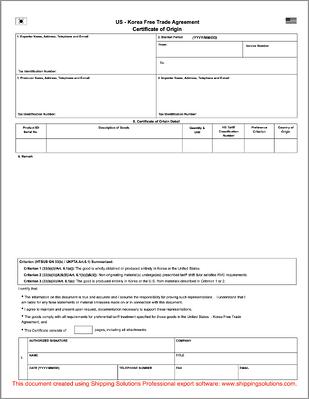 fillable nafta certificate of origin form b232 omnitrans