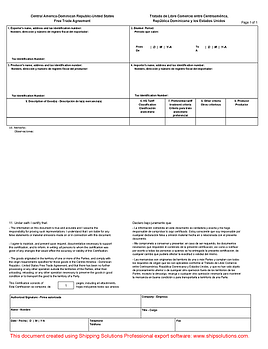 cafta certificate of origin form - Generic Certificate Of Origin Template