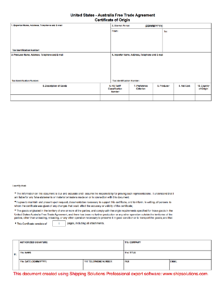 How to fill out a us certificate of origin best design prefeial certificate of origin yelopaper Choice Image