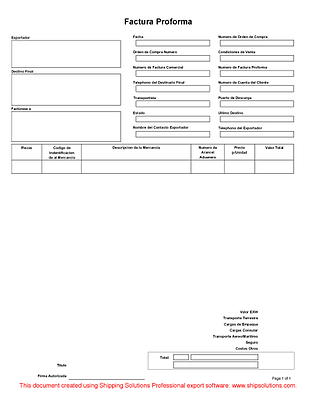 Centralasianshepherdus  Prepossessing Proforma Invoice Spanish With Fascinating Proformainvoicespanishthumbnail With Awesome Invoice Template Images Also Abn Invoice Template In Addition Invoice Template Word Document And Example Of Commercial Invoice As Well As Finance Invoice Additionally Word Invoice Template Uk From Shippingsolutionscom With Centralasianshepherdus  Fascinating Proforma Invoice Spanish With Awesome Proformainvoicespanishthumbnail And Prepossessing Invoice Template Images Also Abn Invoice Template In Addition Invoice Template Word Document From Shippingsolutionscom