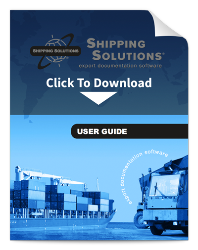 Shipping Solutions Export Documentation Software User Guide