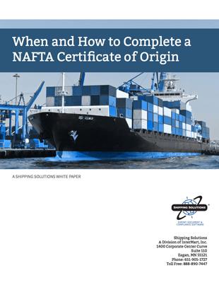 When & How To Create a NAFTA Certificate of Origin
