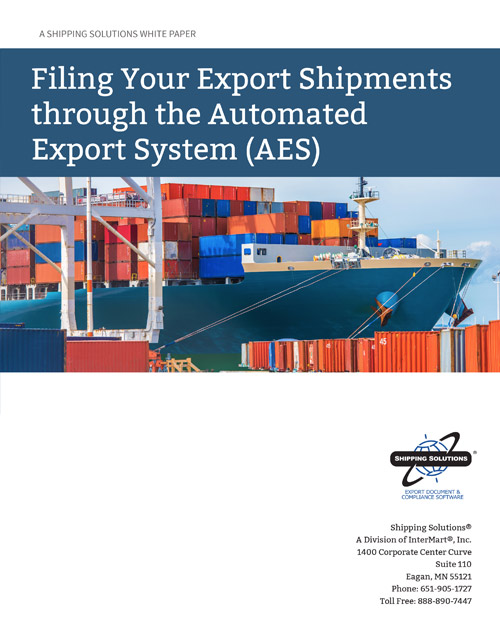 Filing Your Export Shipments Through AES