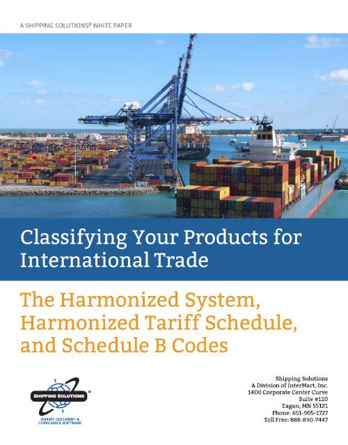 Classifying Your Products for International Trade