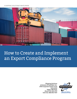 Export Compliance Program - ShippingSolutions