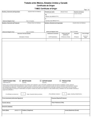 T-MEC Certificate of Origin in Spanish | Shipping Solutions