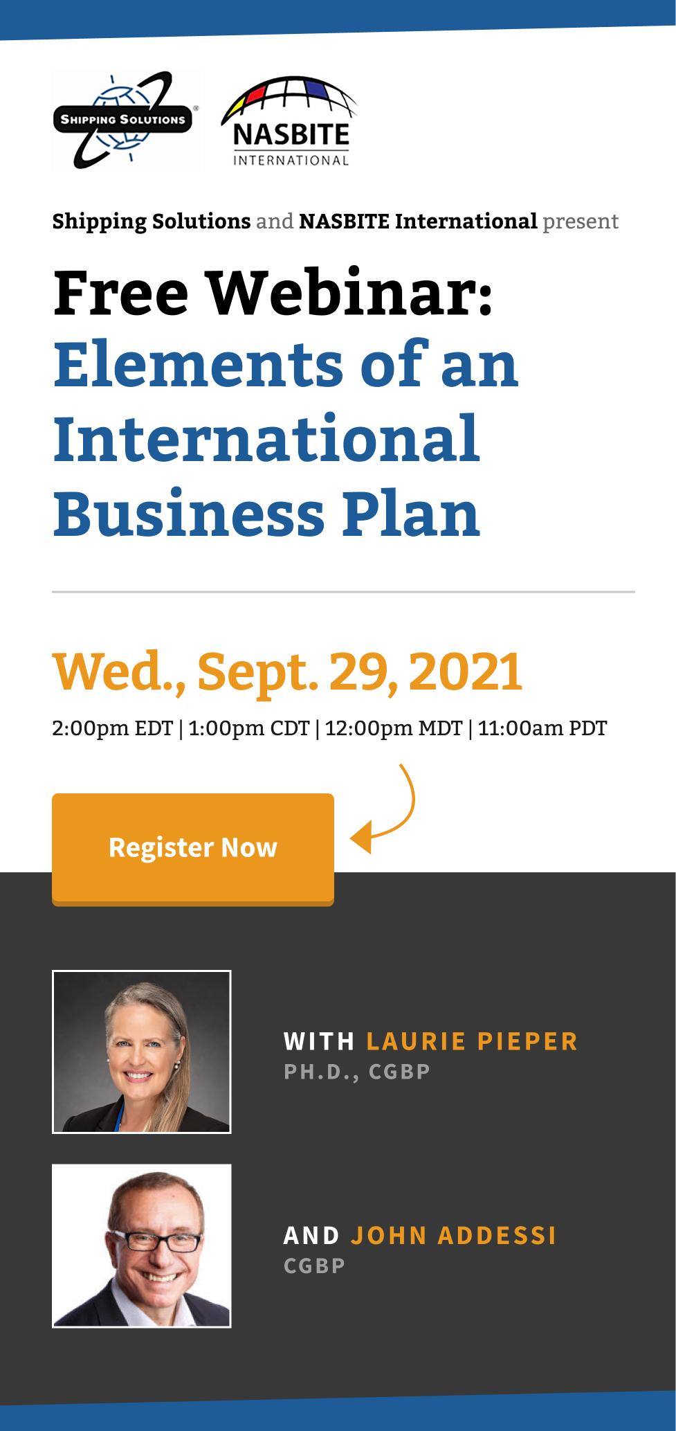Elements of an International Business Plan - 1