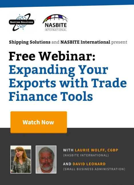 Webinar - Expanding Your Exports with Trade Finance Tools