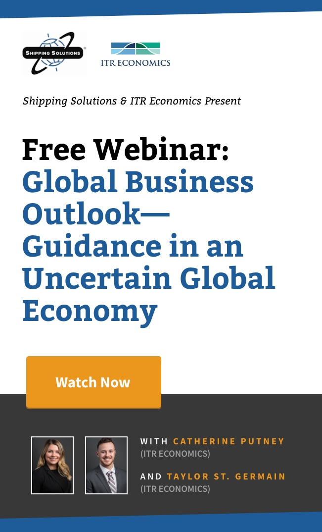 Global Business Outlook - Guidance in an Uncertain Global Economy - Shipping Solutions