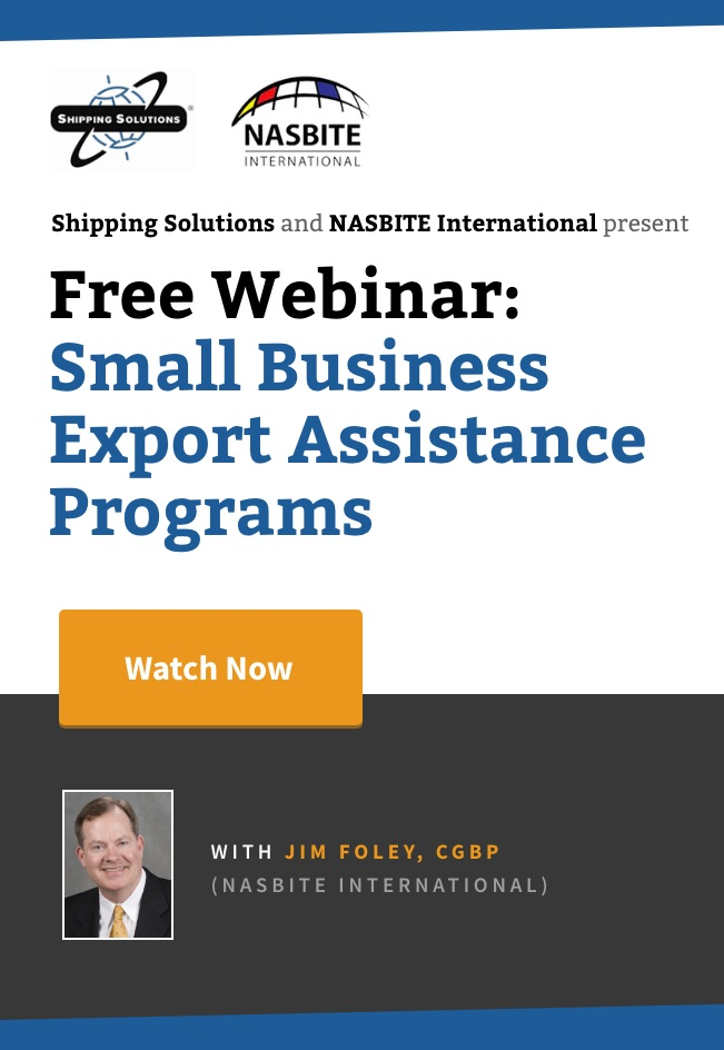 Small Business Export Assistance Programs Webinar - Shipping Solutions