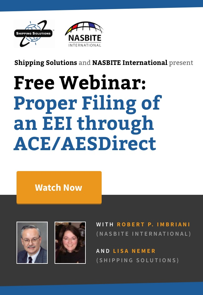 Proper Filing of an EEI through ACE / AESDirect - Shipping Solutions