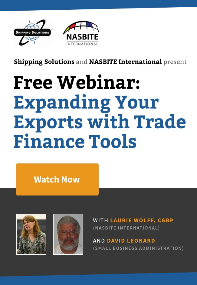 Expanding Your Exports with Trade Finance Tools - Shipping Solutions
