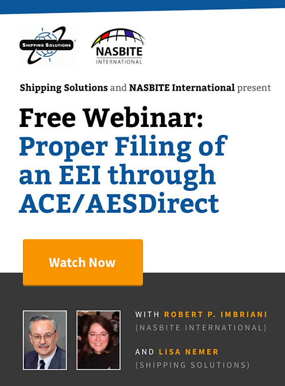 Webinar - Proper Filing of an EEI through ACE/AESDirect