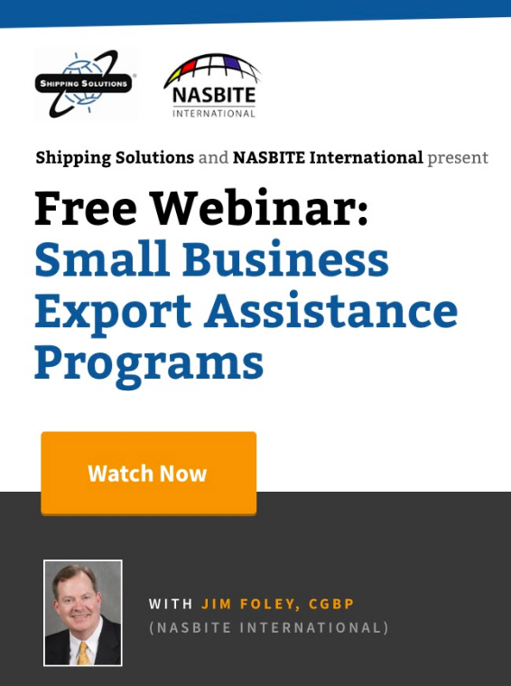 Small Business Export Assistance Programs - Shipping Solutions Webinar