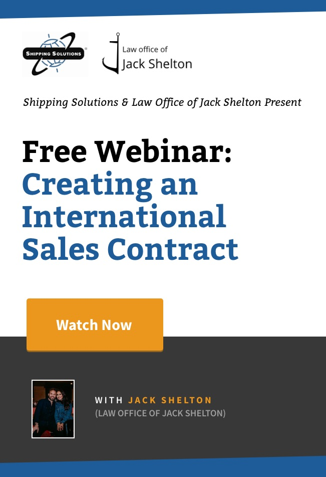 Webinar - Creating an International Sales Contract - Watch Now