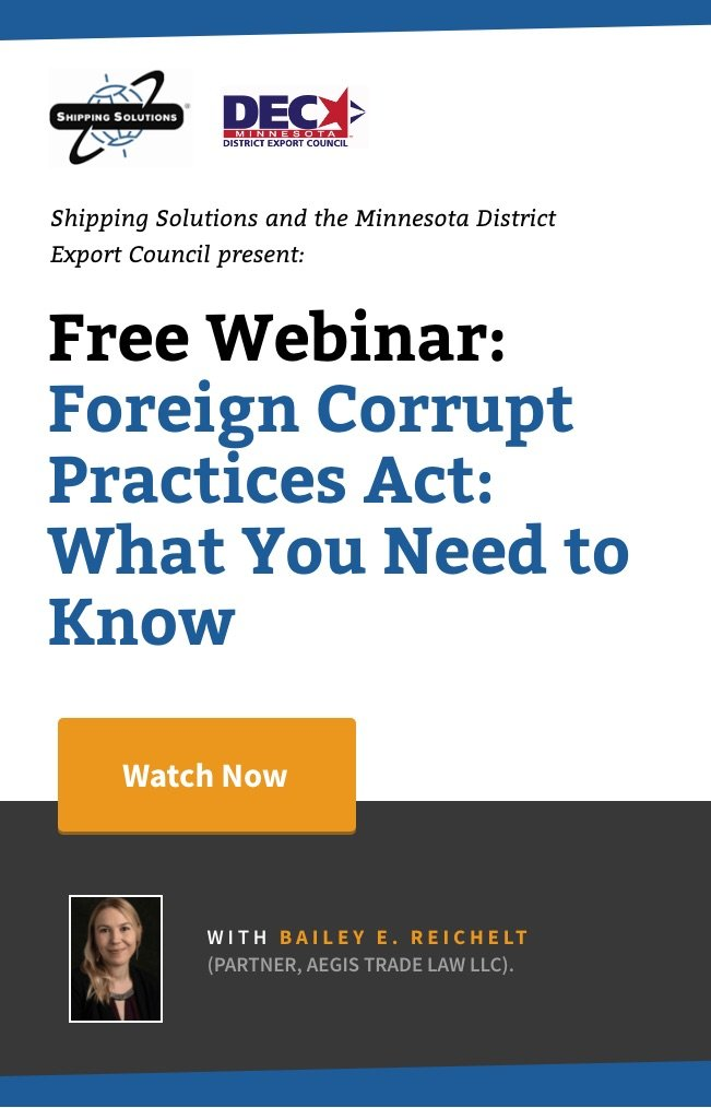 Webinar - Foreign Corrupt Practices Act_ What You Need to Know - Shipping Solutions