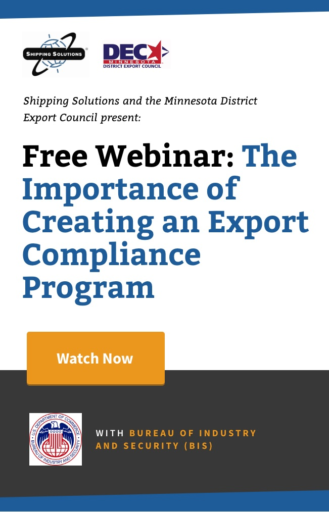 Webinar - The Importance of Creating an Export Compliance Program - Shipping Solutions