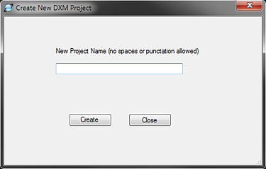 Creating New DXM Project | Shipping Solutions