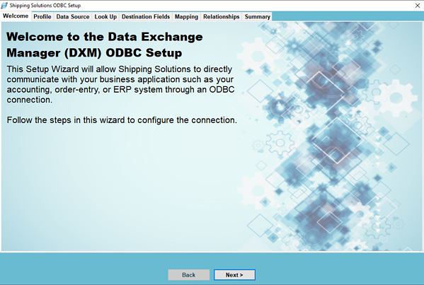 Setting Up the DXM Using an ODBC Connection | Shipping Solutions