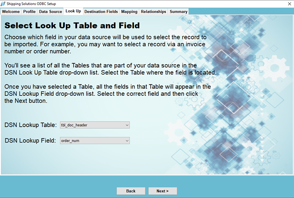 Select Look Up Table and Field