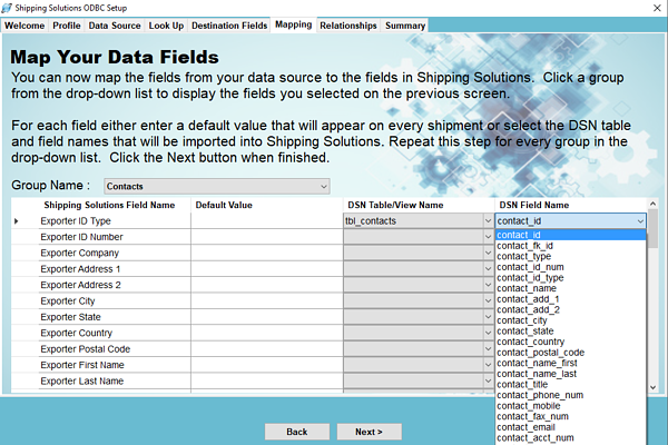 Map Your Data Fields | Shipping Solutions