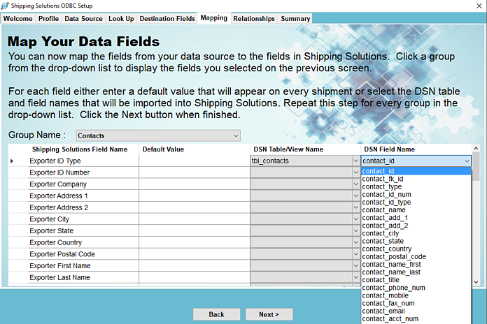 Using an ODBC Connection with Shipping Solutions Export Software