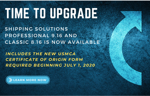 Time to upgrade to Shipping Solutions Version 9.16/8.16