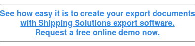 See how easy it is to create your export documents with Shipping Solutions export software. Request a free online demo now.