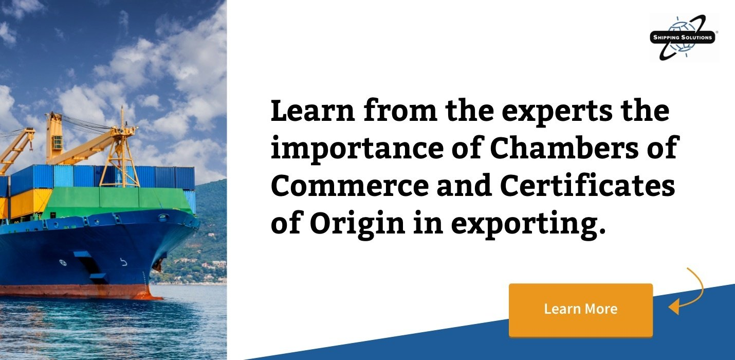 Chambers of Commerce and Certificates of Origin - Shipping Solutions